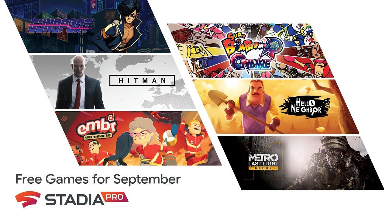 Stadia Pro games for September