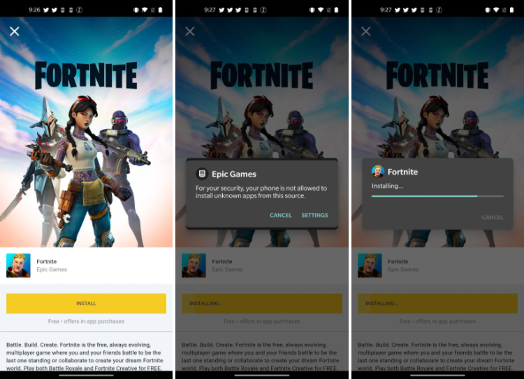 fortnite for android apk install