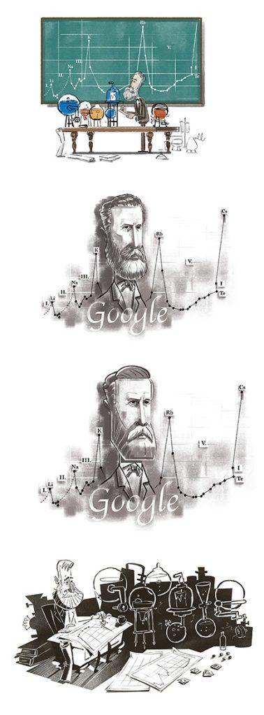 Julius Lothar Meyer Google Doodle concept art
