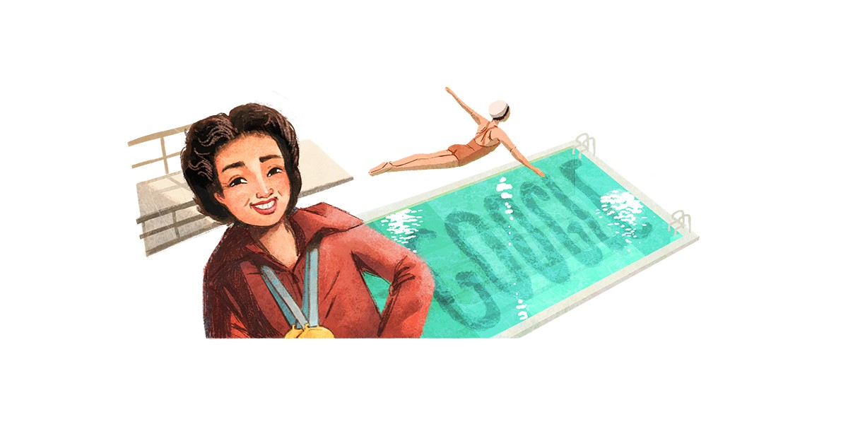 Google Doodle honors Vicki Draves, Filipino American Olympic diver