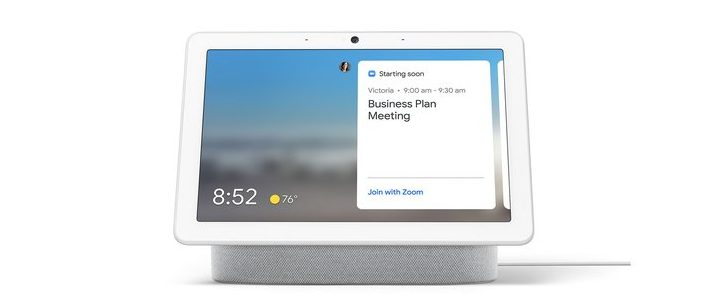 sign-in to Zoom on Smart Displays via Assistant settings on your phone