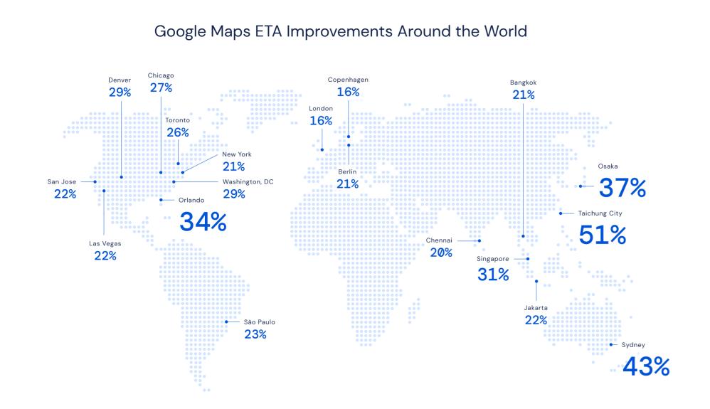 Google Maps es más preciso gracias a las herramientas de DeepMind
