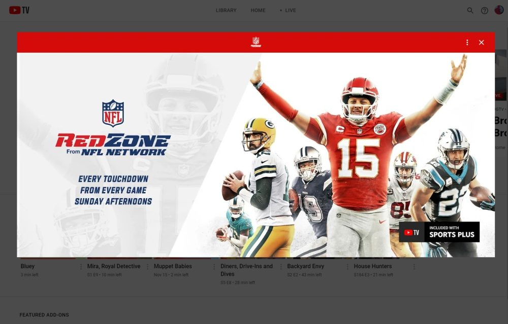 Youtube Tv To Add Nfl Network Sports Plus Add On More 9to5google