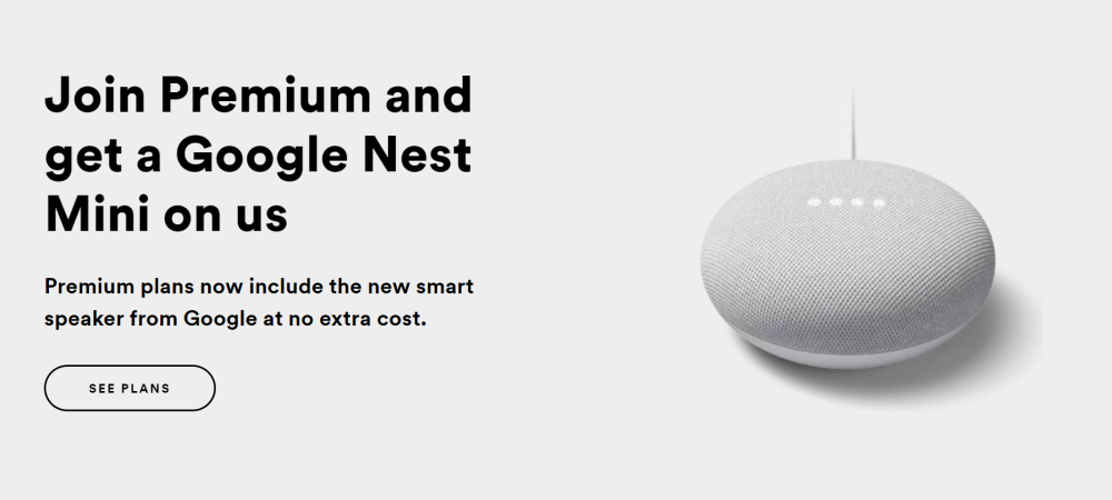 Free from spotify, google home mini code not applying at checkout? - Google Nest Community