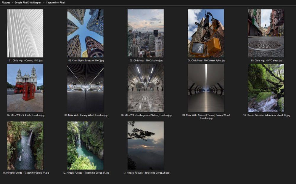 pixel 5 new wallpapers