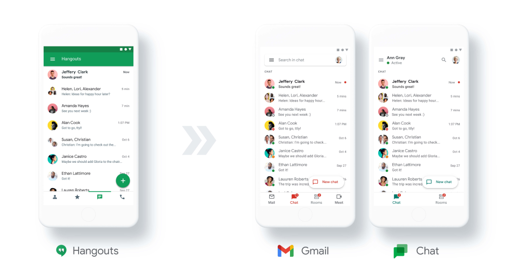 [hangouts dialer]Google Chat going free in 2021, classic Hangouts migration detailed for Fi, Voice