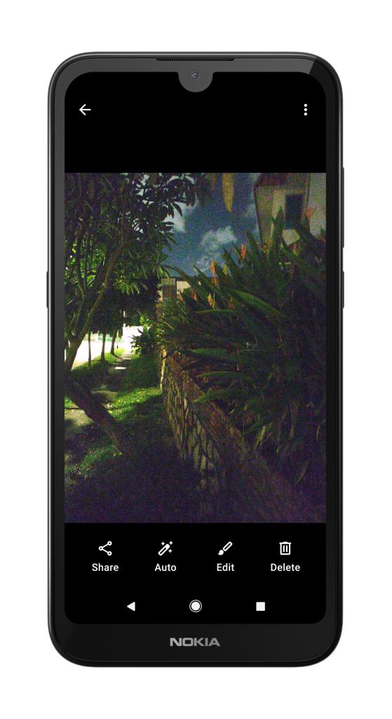 Nokia 1.3 with Google Camera Go Night Mode