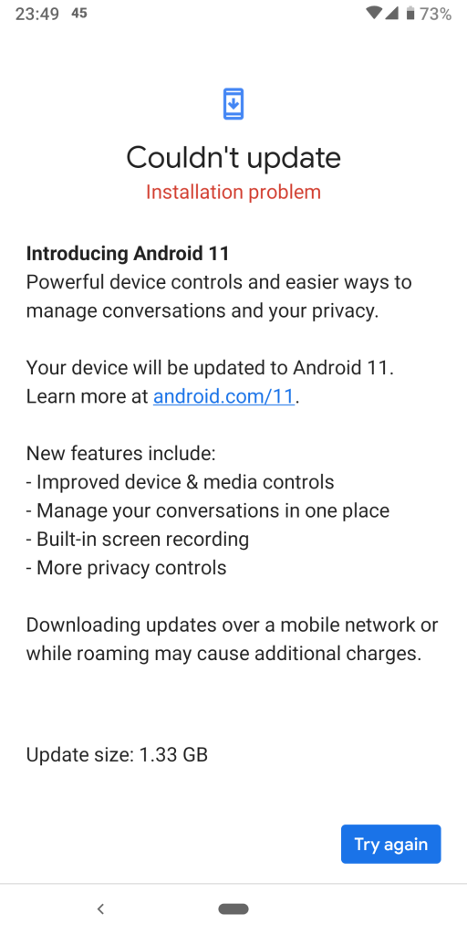 pixel 3a android 11 issues