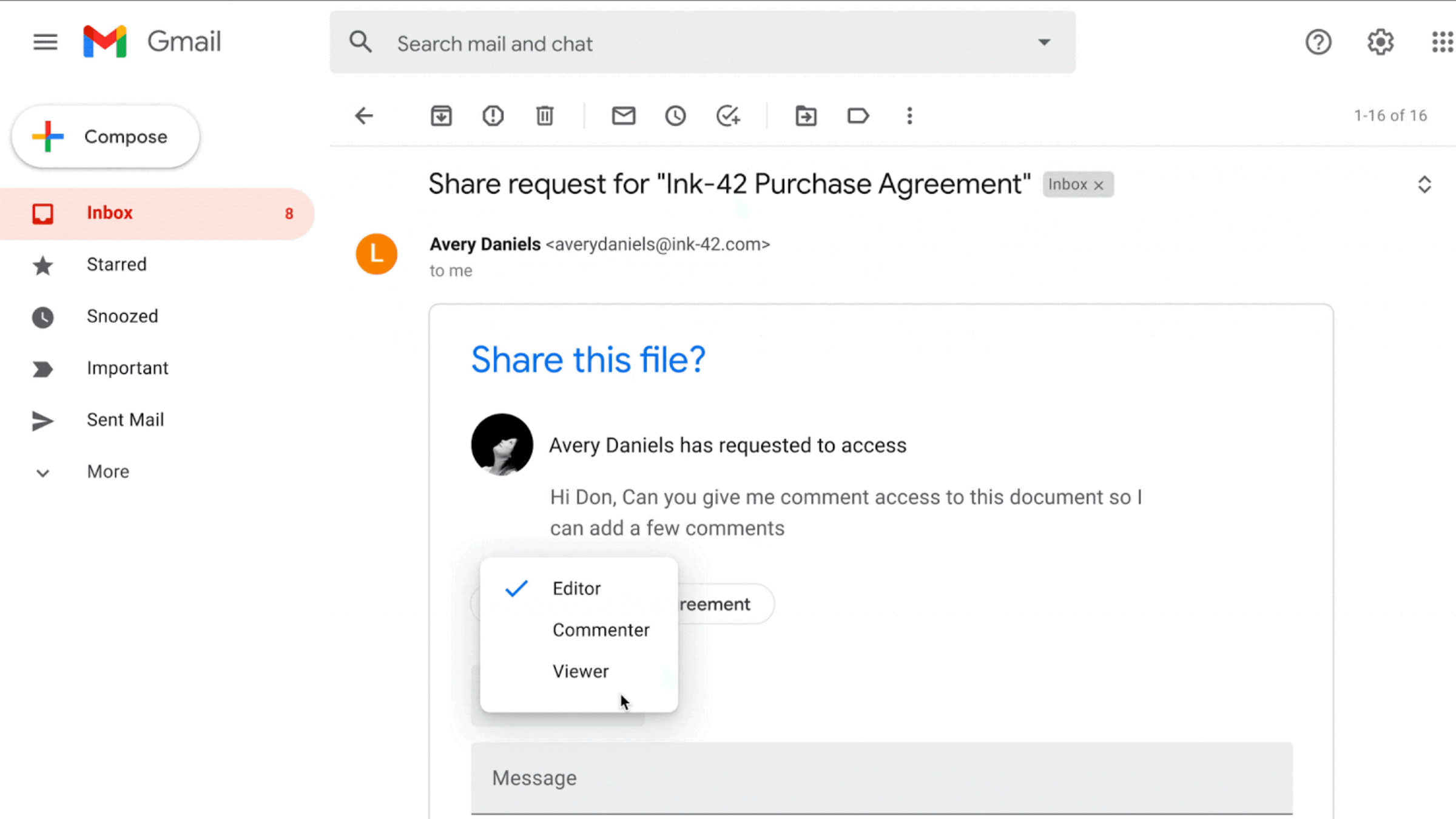 Google Drive using dynamic emails to let you grant file access directly in Gmail - 9to5Google