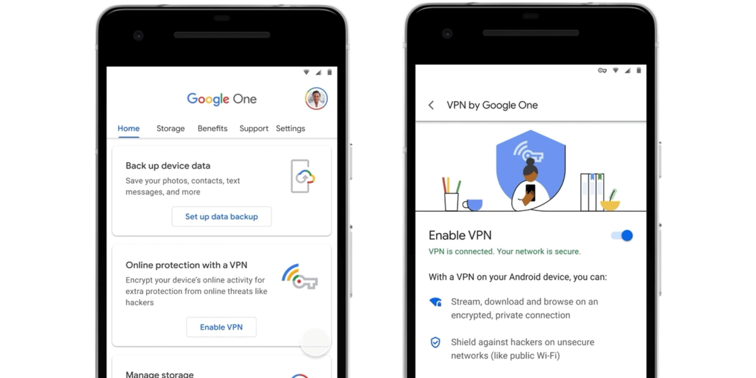 photo of Google One's 2TB+ plans adding Android VPN, coming to iOS & Mac/Windows soon image