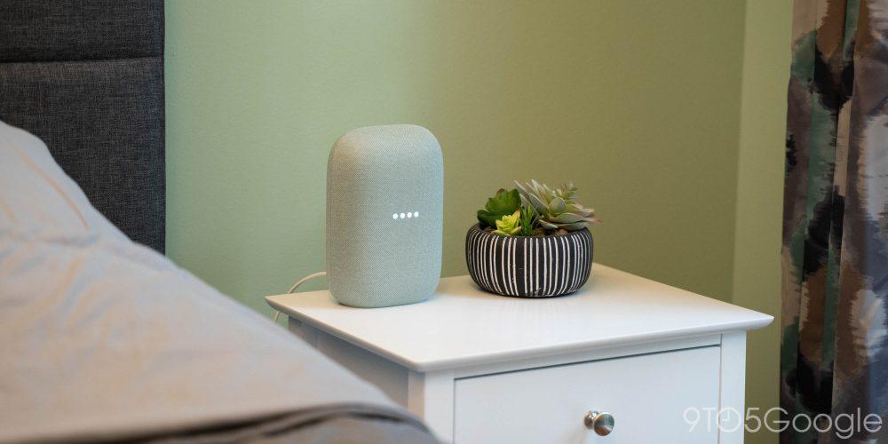 Google Nest Audio (Sage) in bedroom