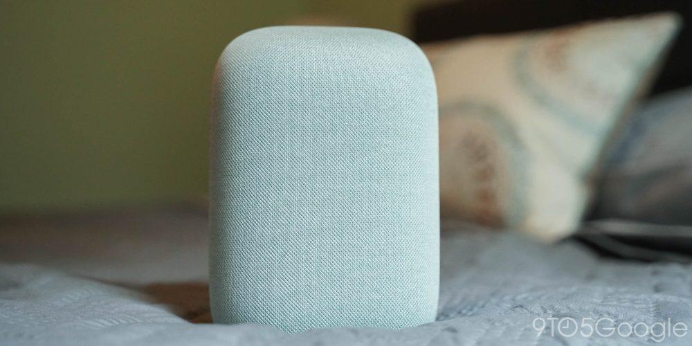 Google Nest Audio (Sage) on bed