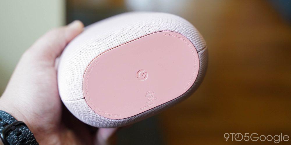 Google Nest Audio (Sand) underside