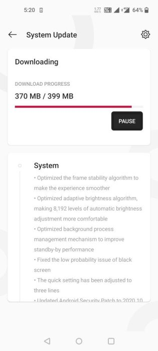 OxygenOS 11.0.1.1