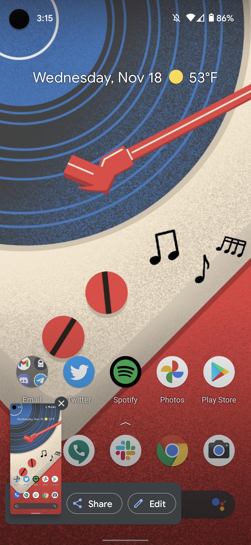 take screenshot google pixel android 11