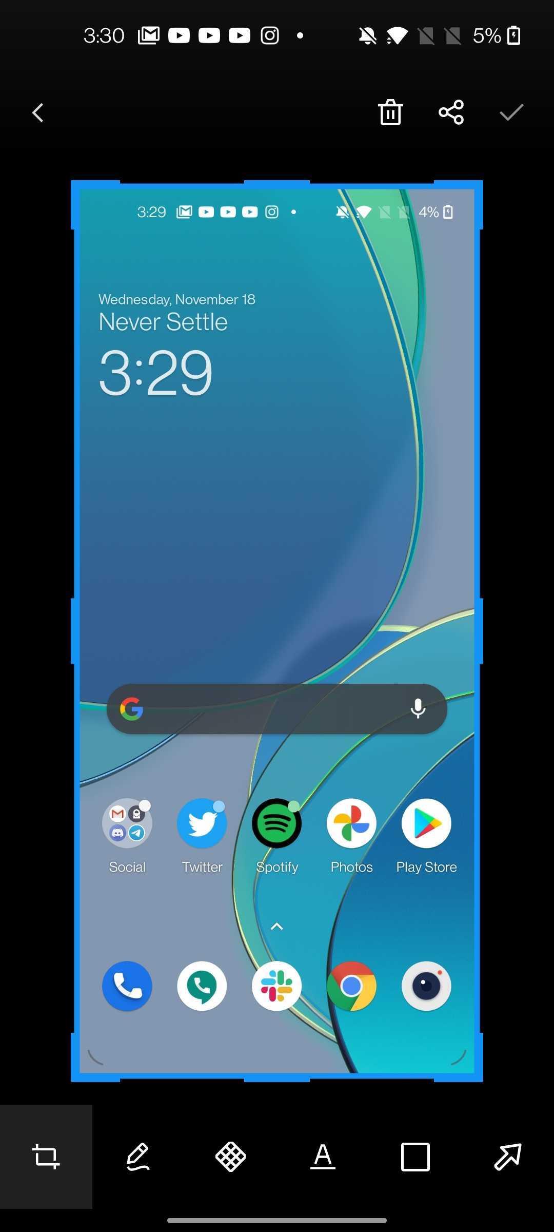 take screenshot oneplus android 11