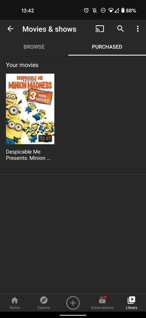 youtube your movies and shows