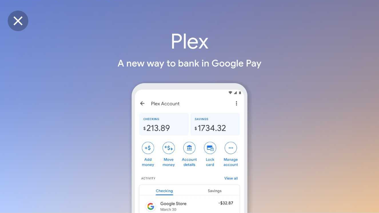 Google Pay launching 'Plex' bank accounts with Citi next year