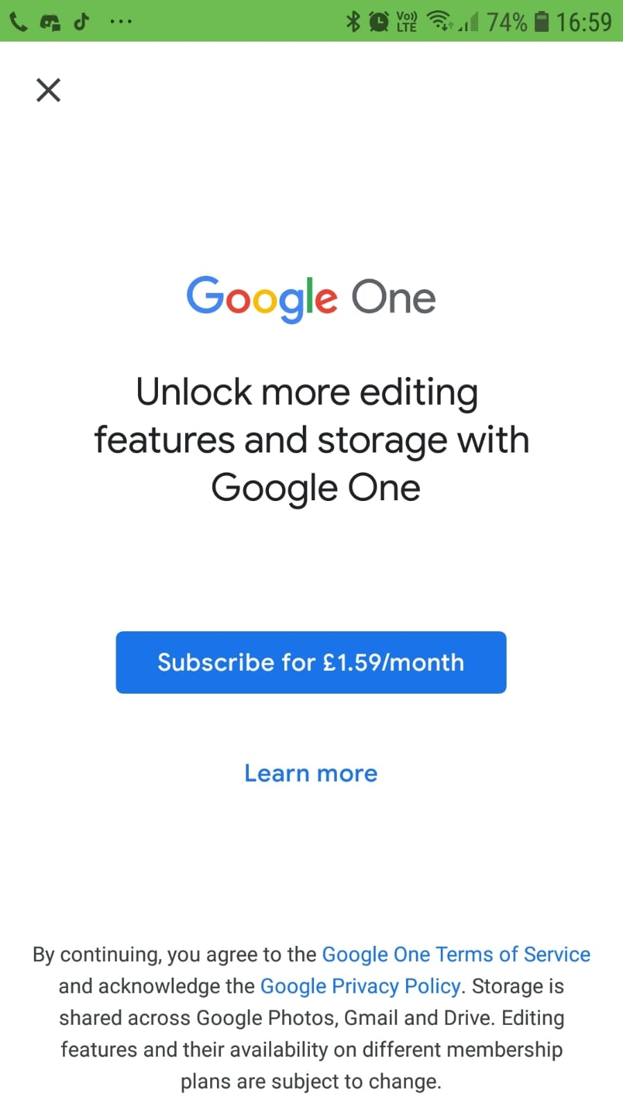 Google Photos The benefits of Google One