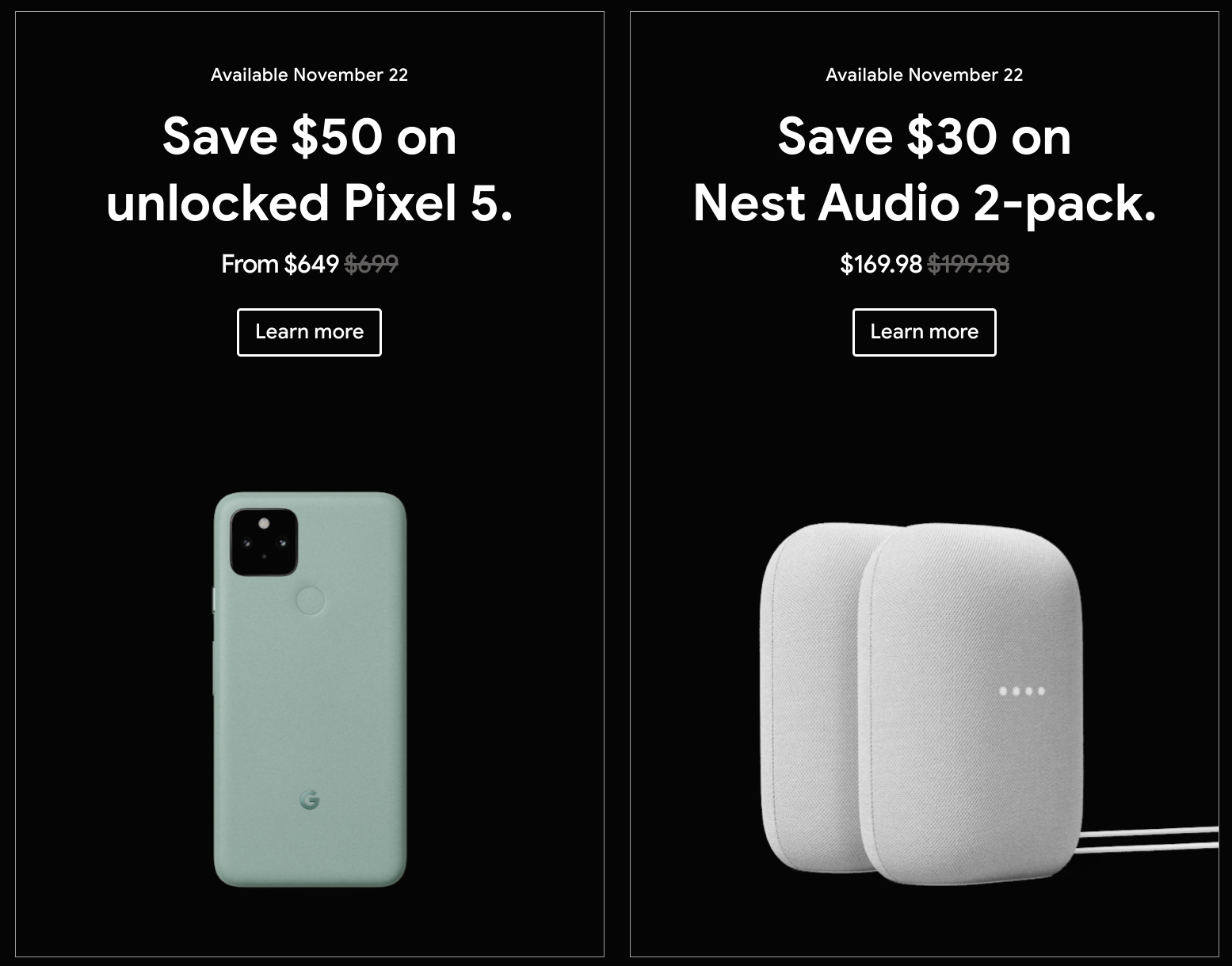Google Store Black Friday 2020 Deals 649 Pixel 5 More 9to5google