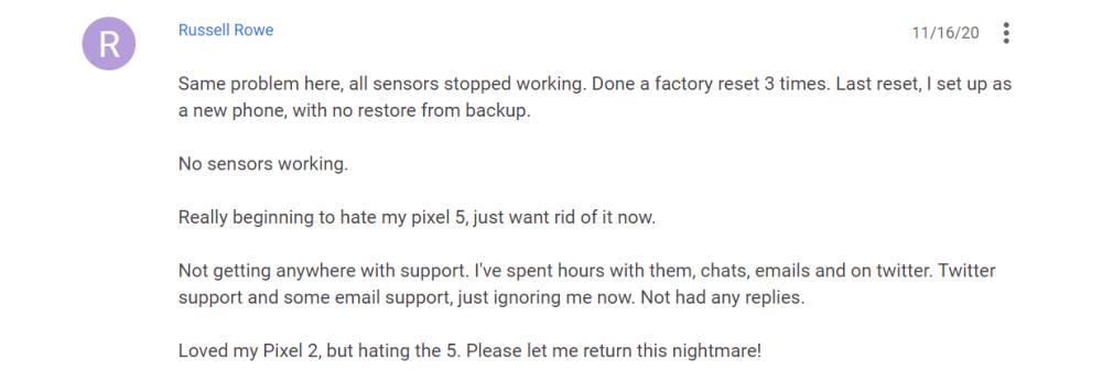 pixel 5 sensors