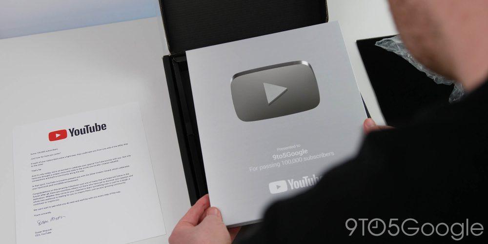 YouTube Silver Play Button