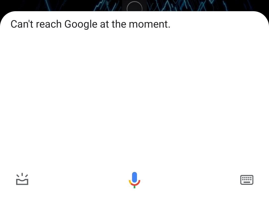 Google Assistant glitch