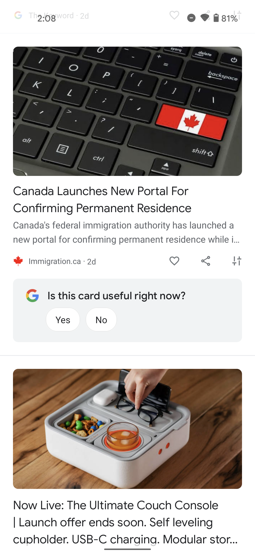 cardless discover feed