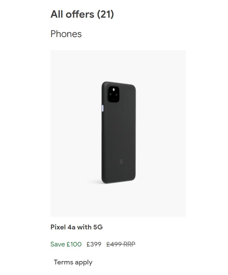 pixel 4a 5g uk sale