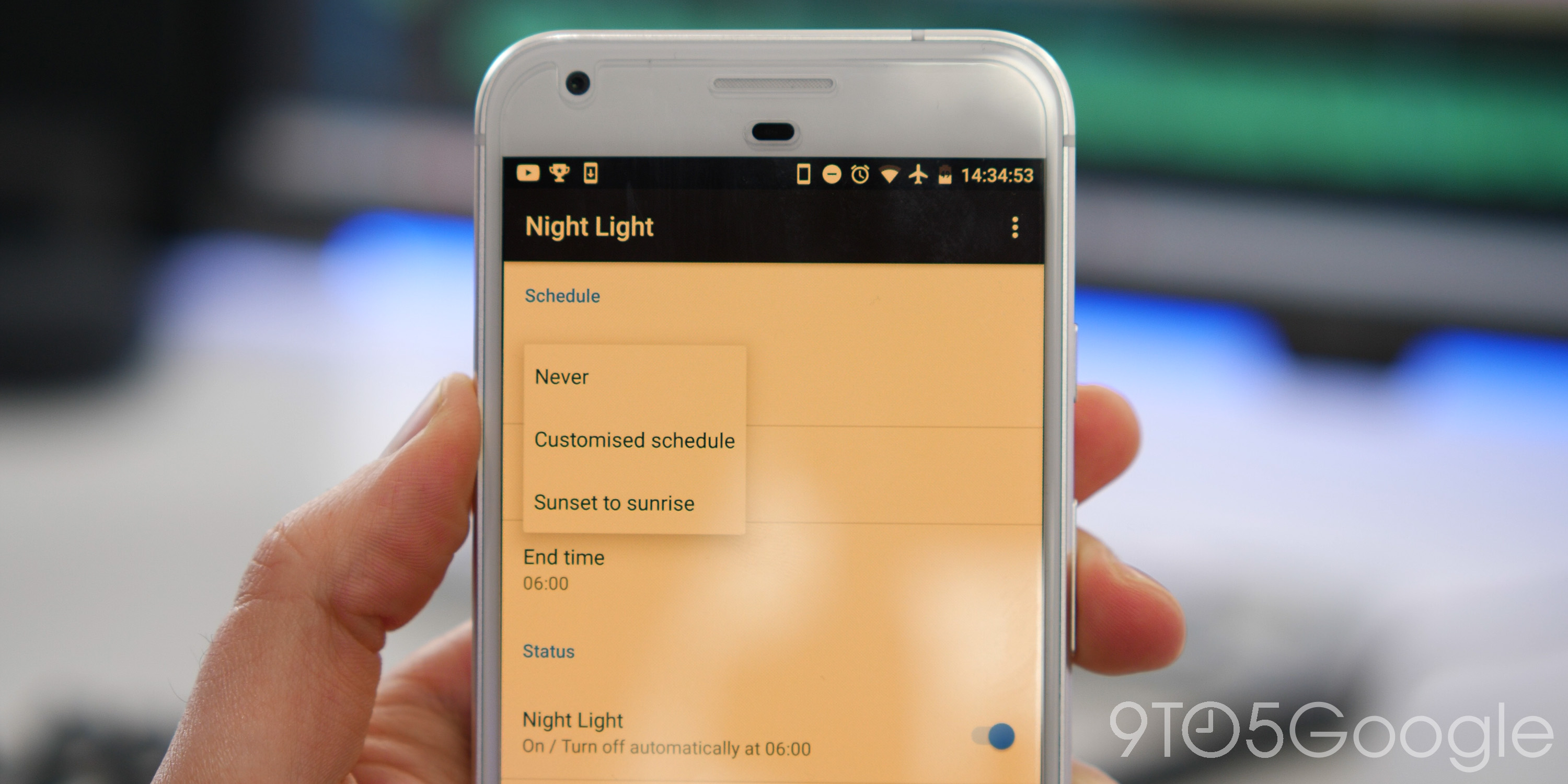 android nougat night light