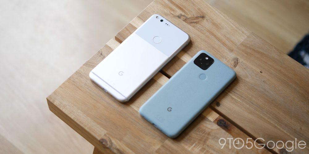 Google Pixel XL and Pixel 5