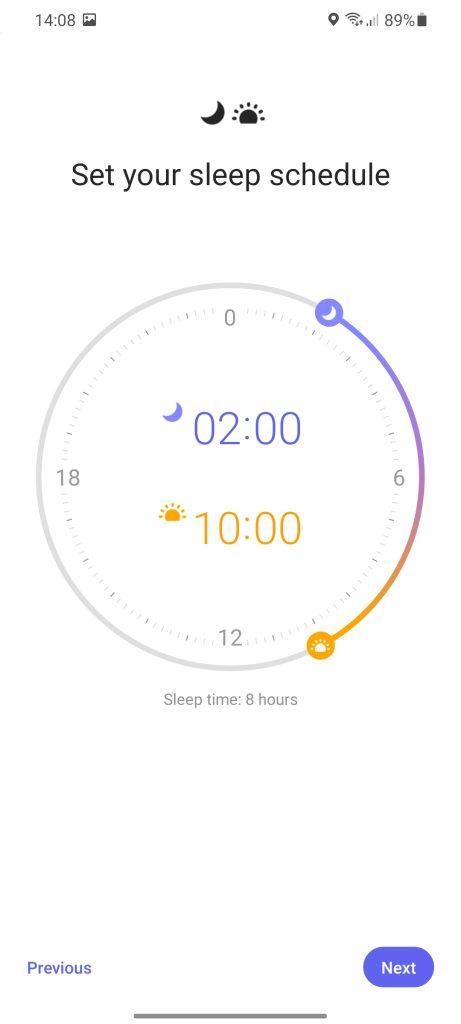 samsung clock bedtime mode