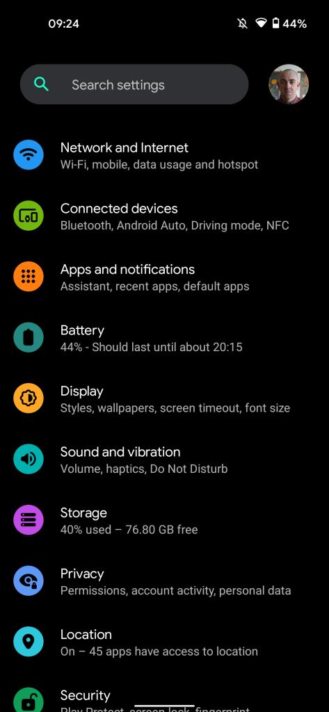 android 12 dark theme