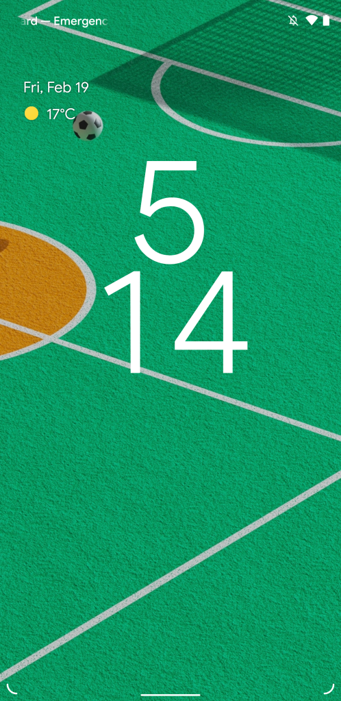 Android 12 lockscreen redesign with extra large clock