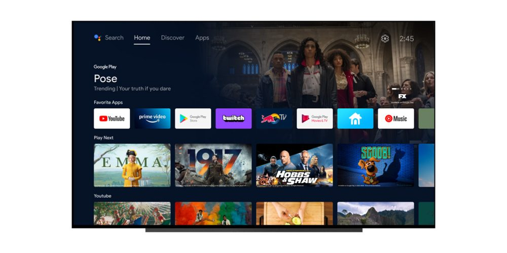 android tv discover homescreen