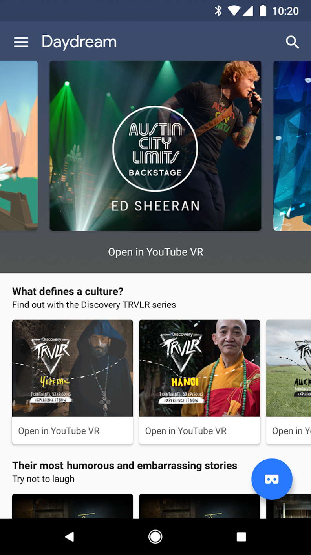 Google Daydream Play Store