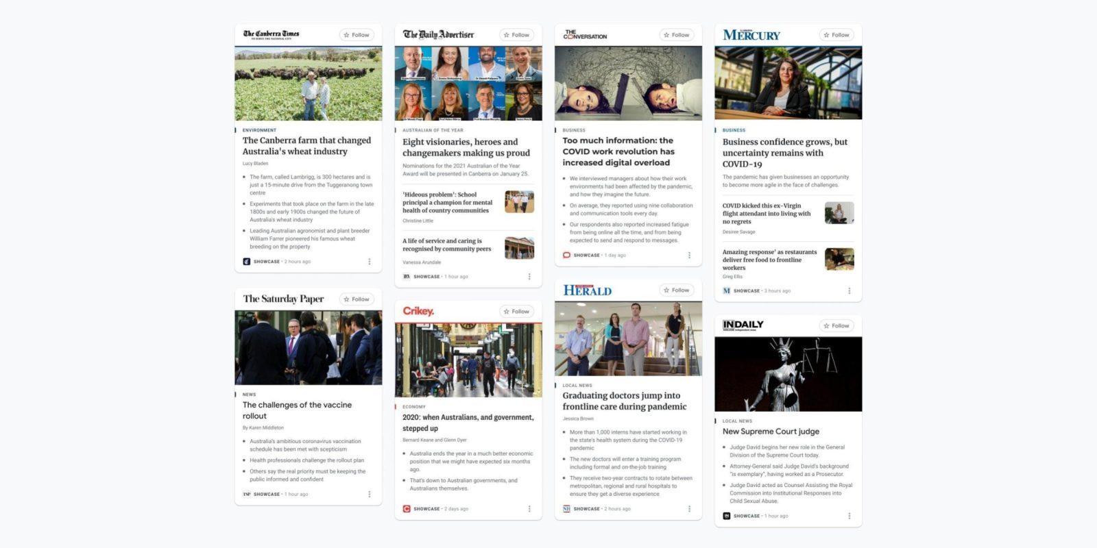 Google Launches News Showcase In Australia 9to5google