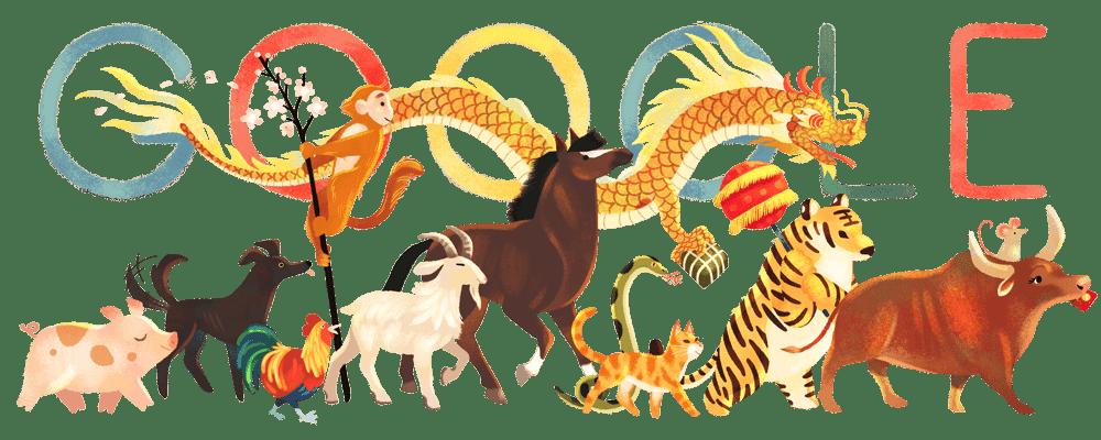 Lunar New Year 2021 Google Doodle in Vietnam