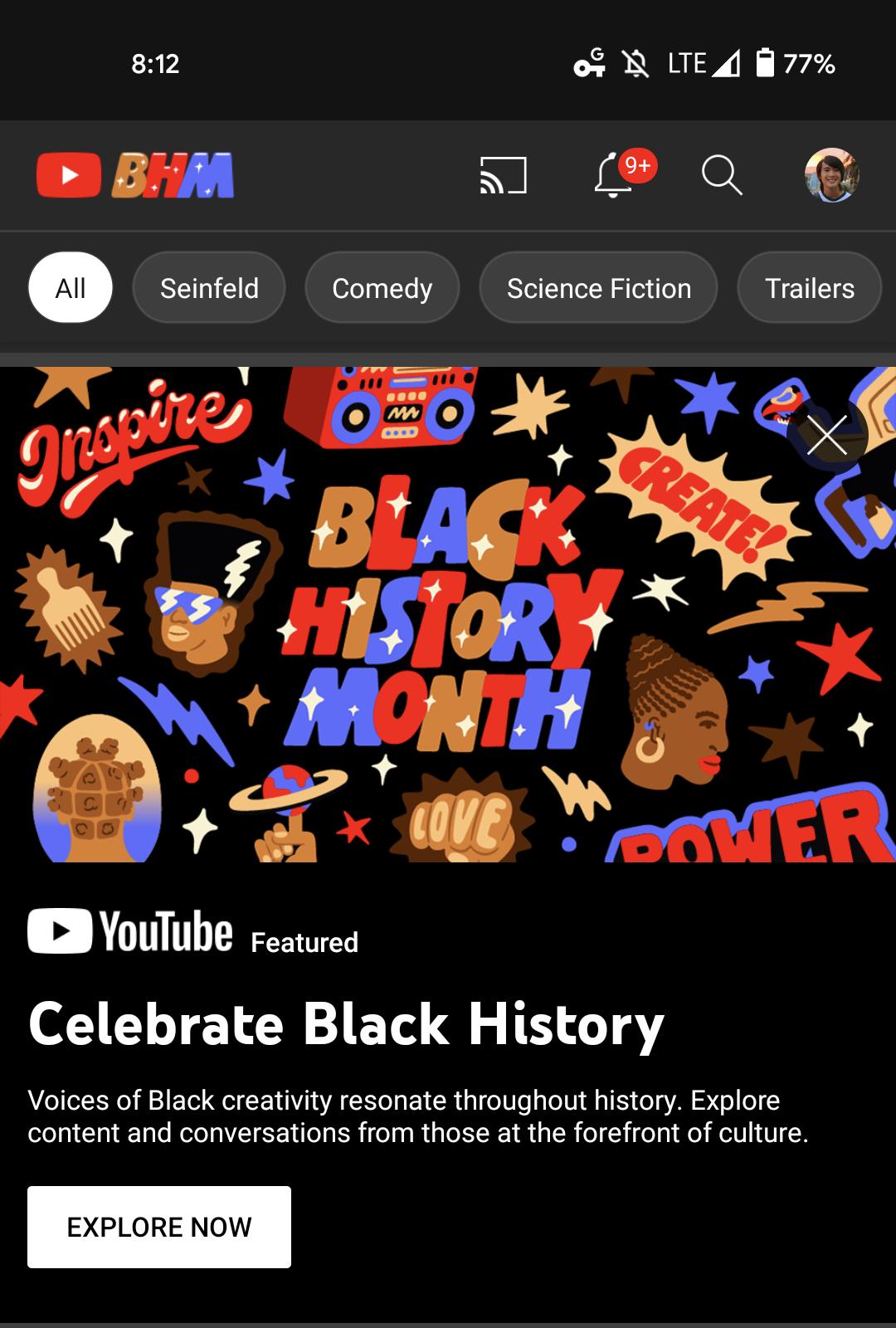 YouTube BHM logo