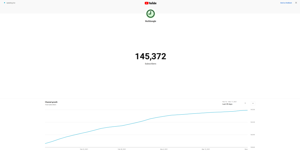 youtube subscriber count