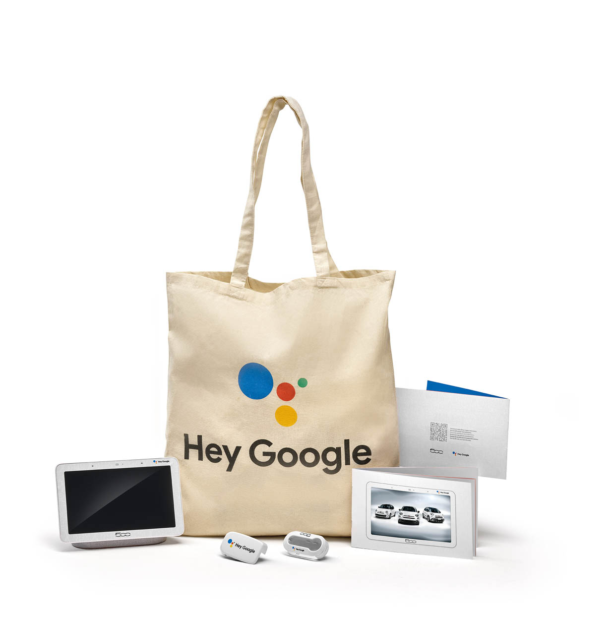 fiat 500 hey google goodie bag