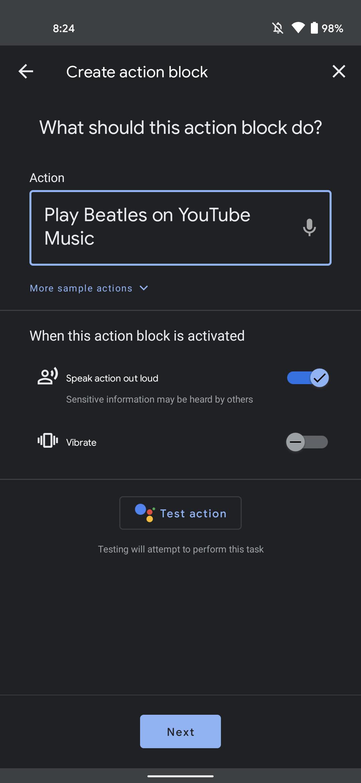 Action Blocks backup