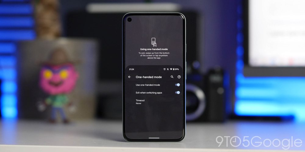 Android 12 Developer Preview 2 one-handed mode