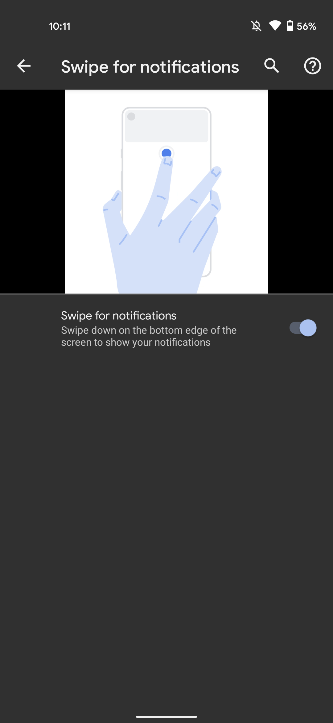 Android 12 notification swipe