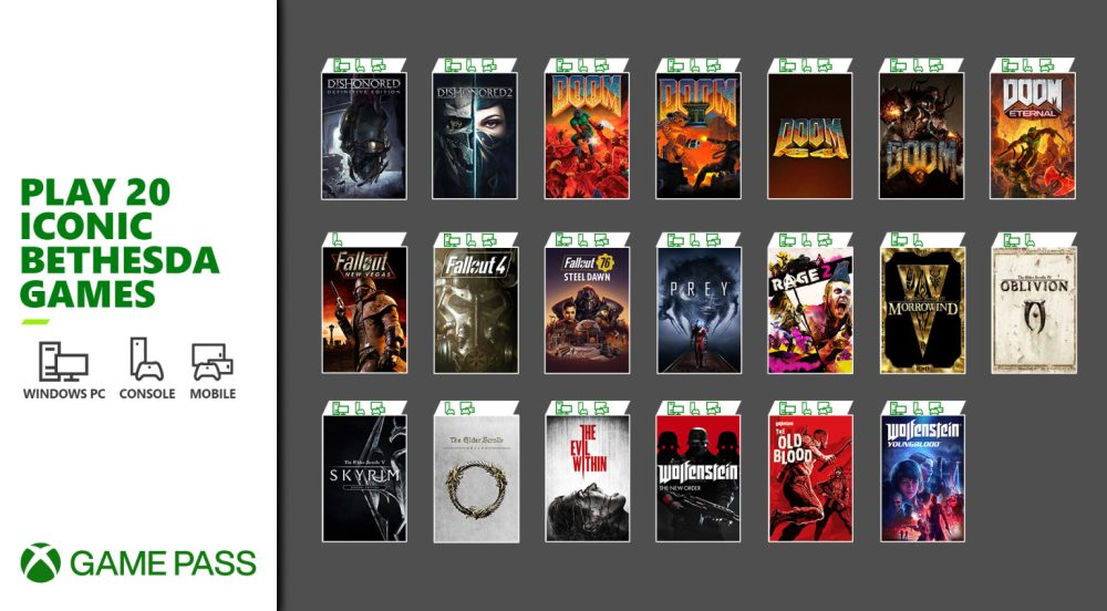 Bethesda games coming to Xbox Game Pass streaming on Android, including Skyrim and Fallout 4