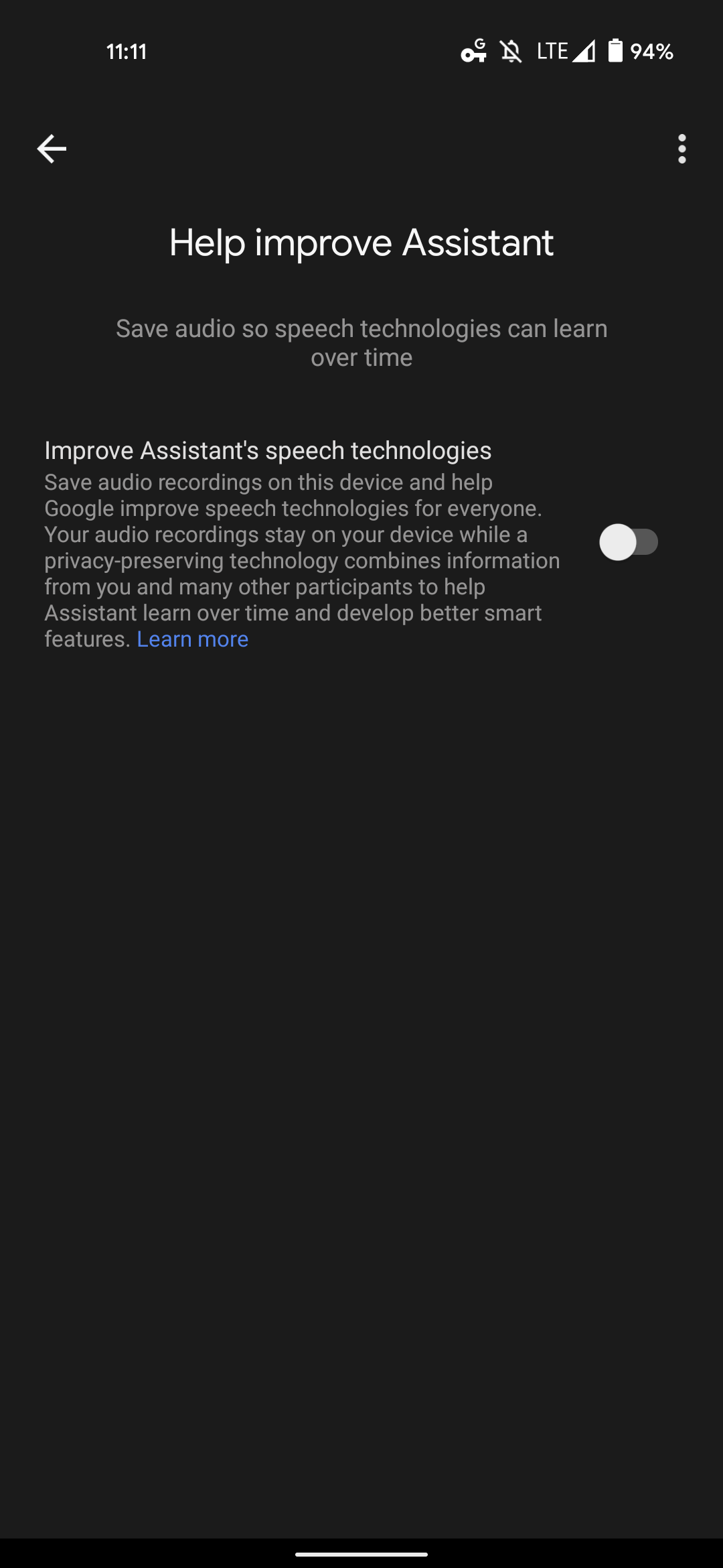 Google Assistant federated learning