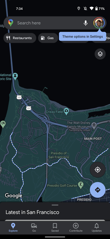 google maps dark theme android 3