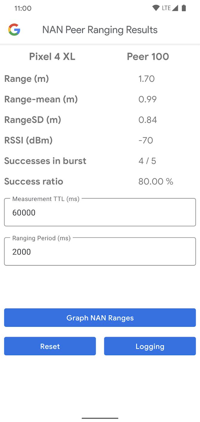 Google WifiNanScan App