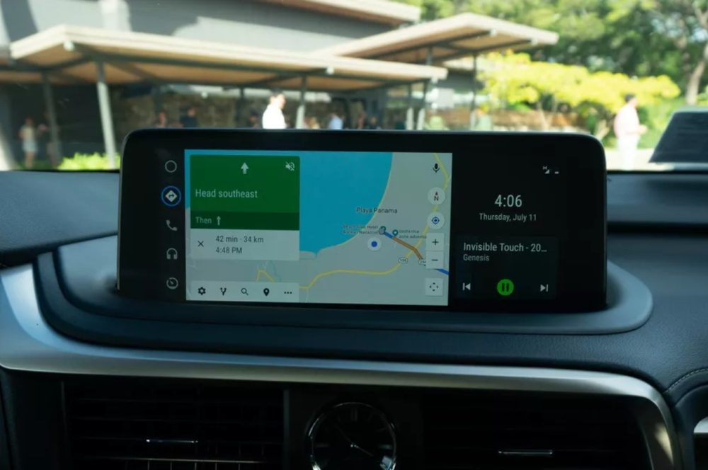 android auto split-screen