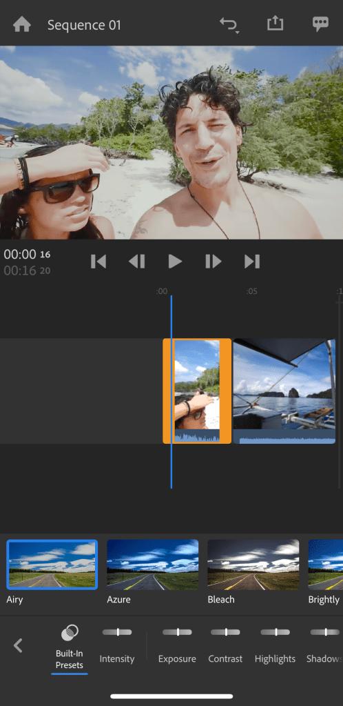 premiere rush color presets